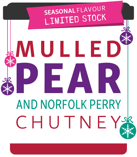 Mulled Pear and Norfolk Perry Chutney