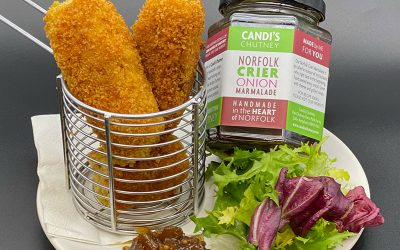 Glamorgan Sausages with Norfolk Crier Onion Marmalade